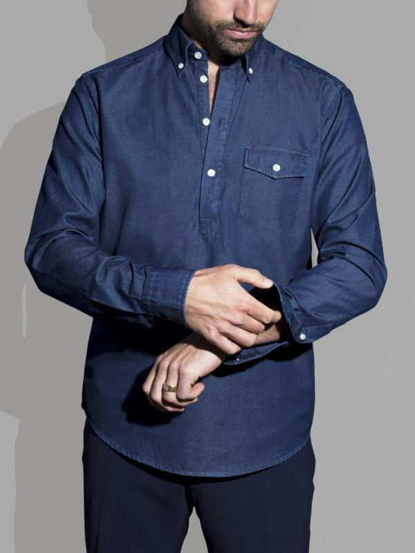 Dark Denim Popover Shirt