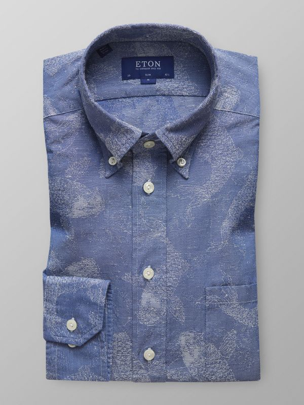 Denim Koi Fish Print Shirt