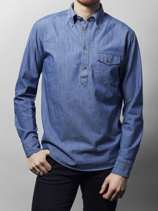 Light Wash Denim Popover