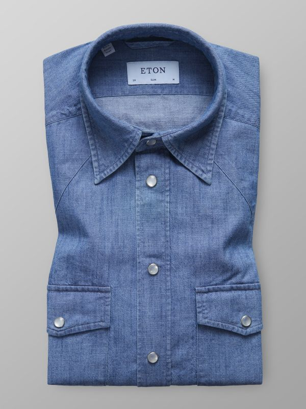 Press Stud Denim Shirt