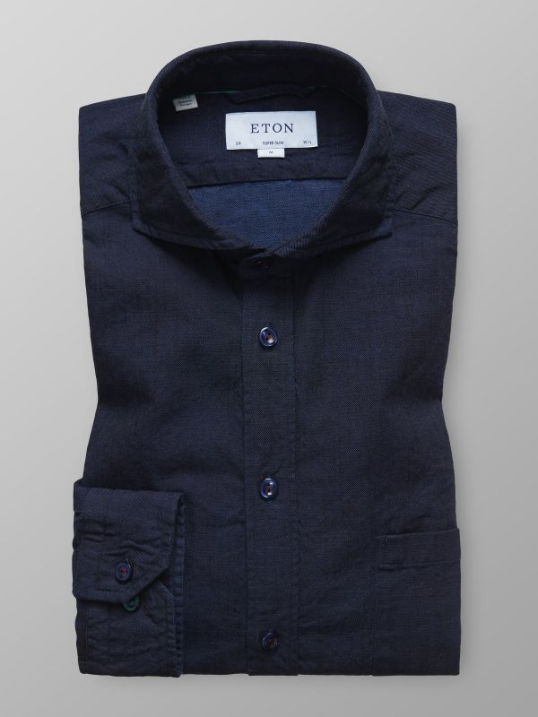 Navy Denim Shirt with Details