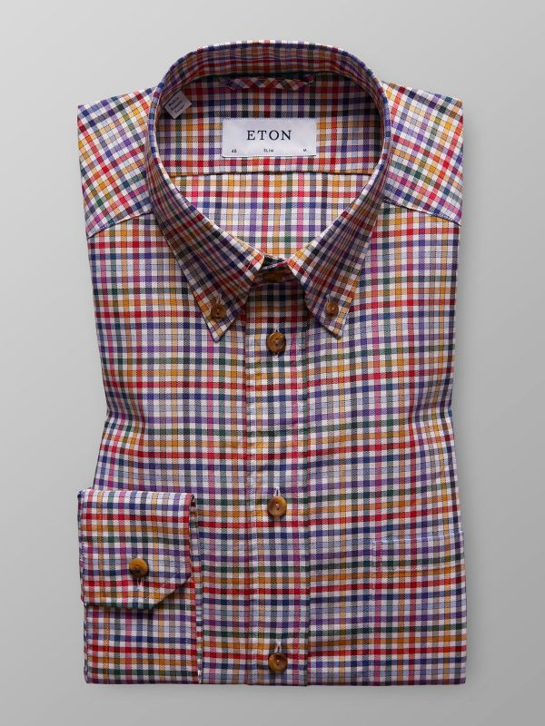 Multicolour Check Button Down Shirt