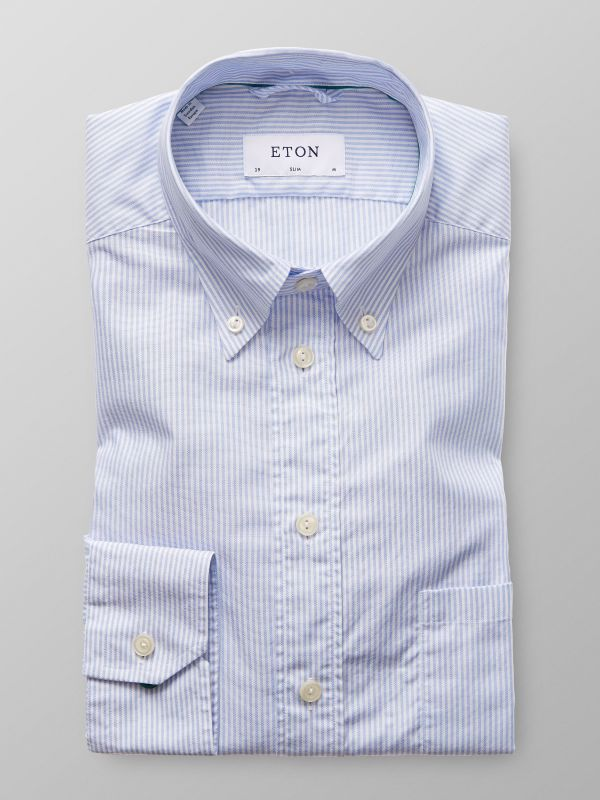 Light Blue Striped Oxford Shirt