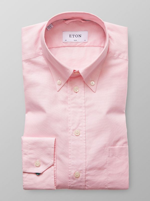 Rosa button down-skjorta - oxfordtyg