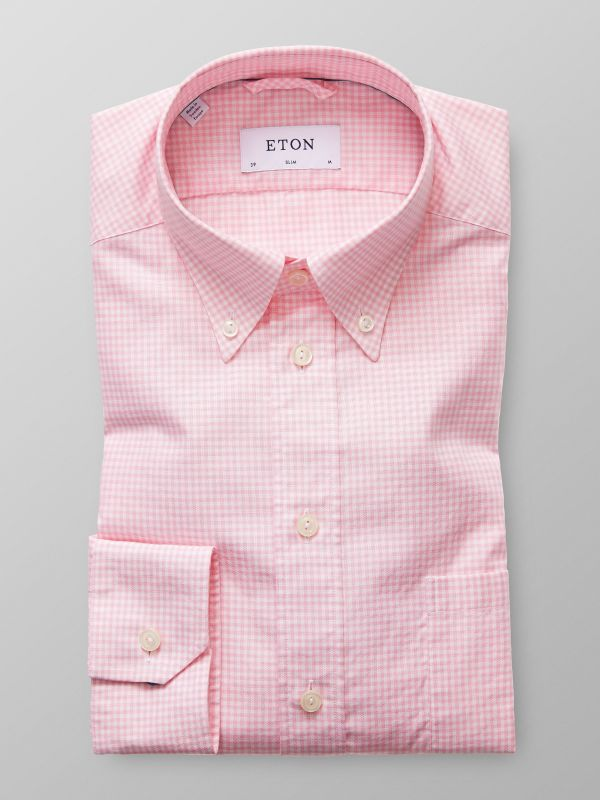 Rosarutig button down-skjorta