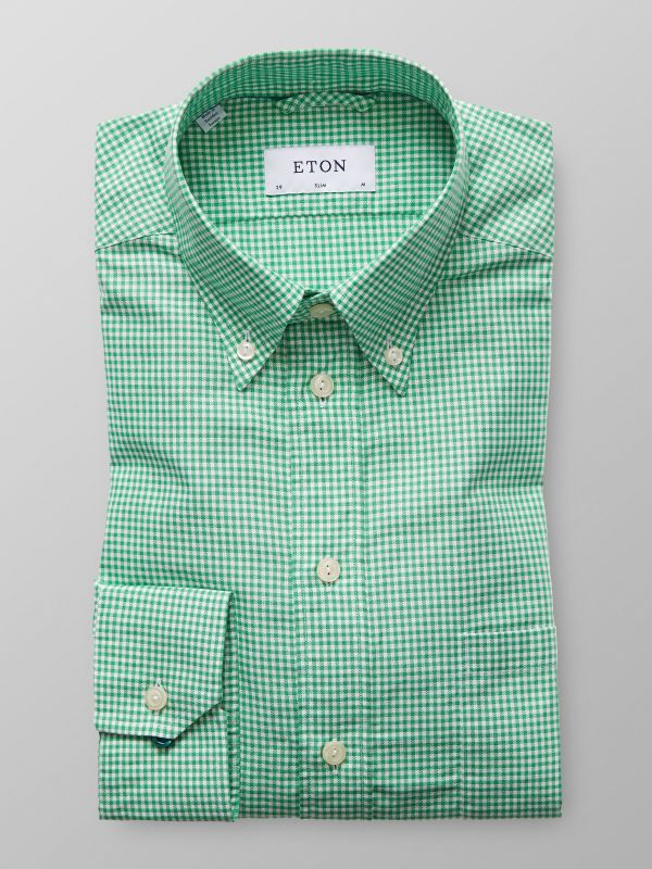 Green Check Oxford Shirt