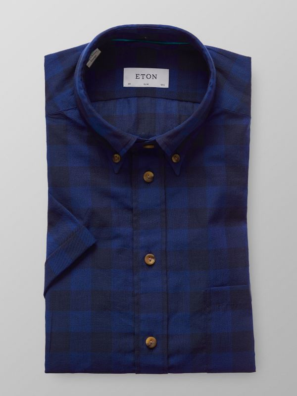 Navy Check Superlight Short Sleeve Shirt