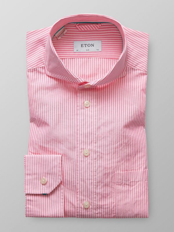 Pink Striped Cotton & Linen Shirt