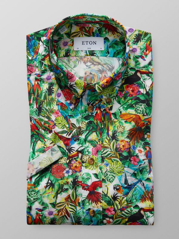 Multicolour Jungle Short Sleeve Shirt