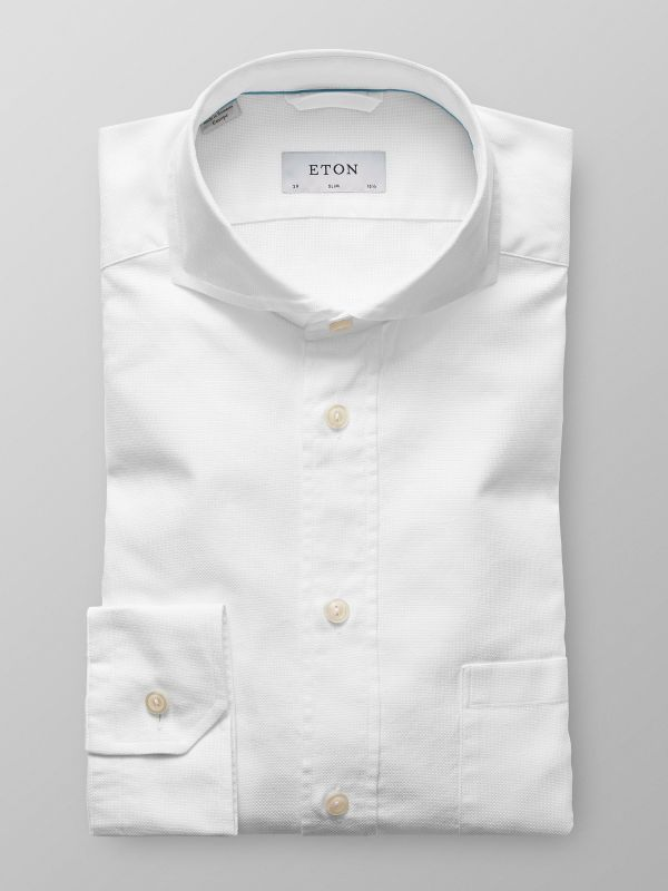 White Fine Oxford Shirt