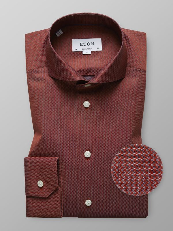 Red Micro Weave Shirt
