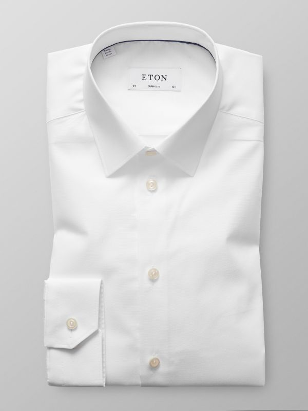 White Poplin Stretch Shirt