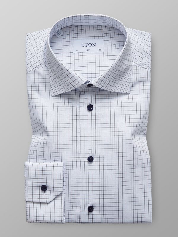 Blue & White Check Shirt