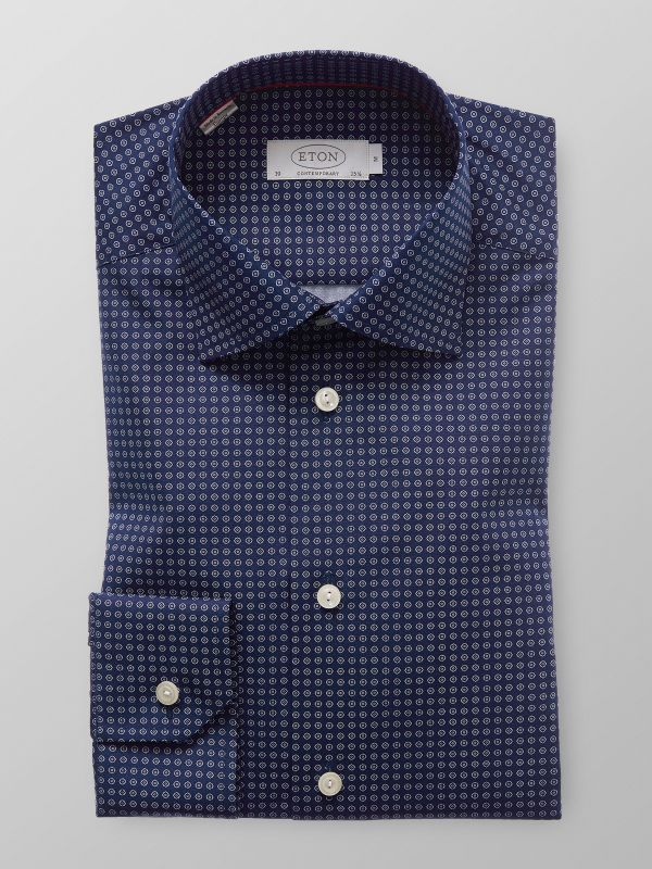 Blue Printed Shirt