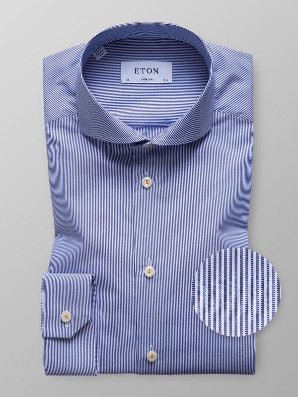 Striped Poplin Shirt With Trim Details