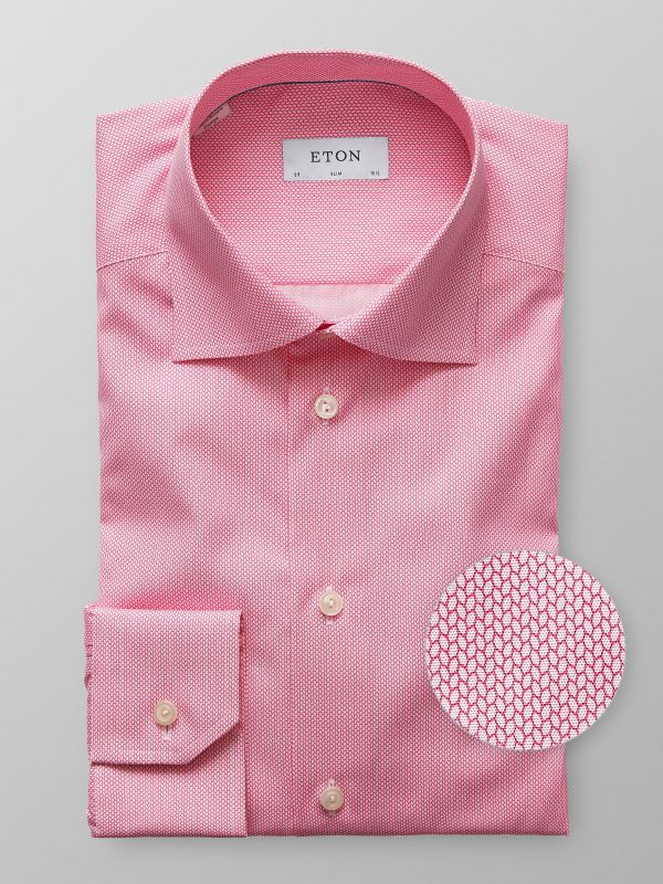 Pink Braided Print Shirt