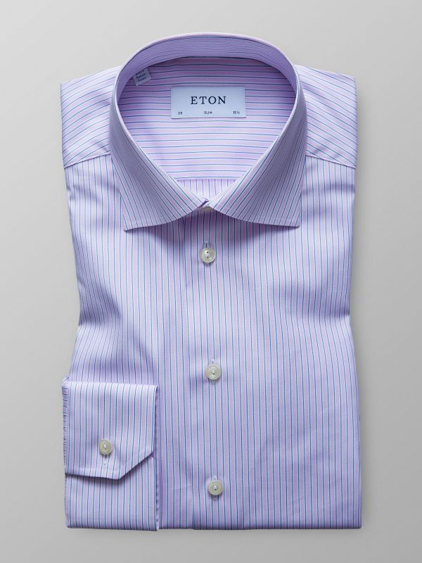 Purple Striped Shirt