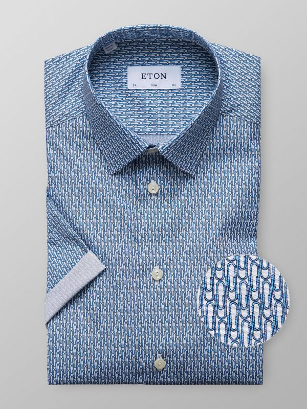 Paper Clip Short Sleeve Print Shirt
