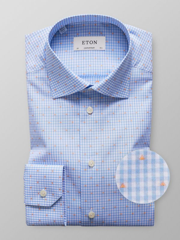 Blue Check Fil Coupé Shirt