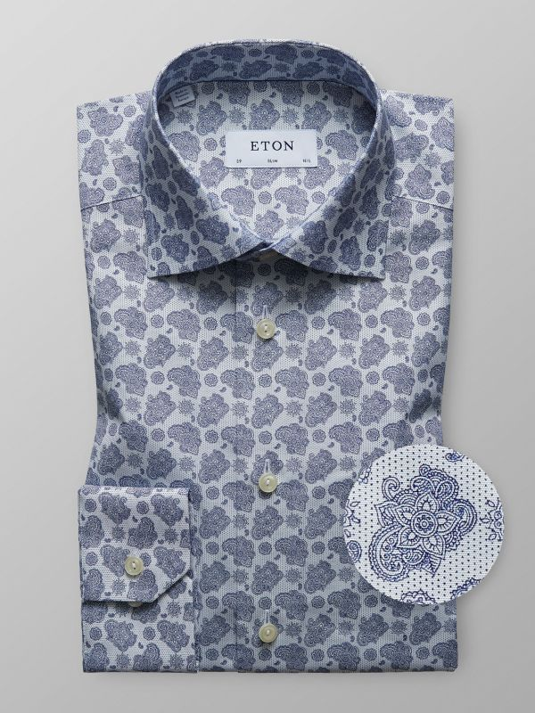 Blue Paisley Shirt