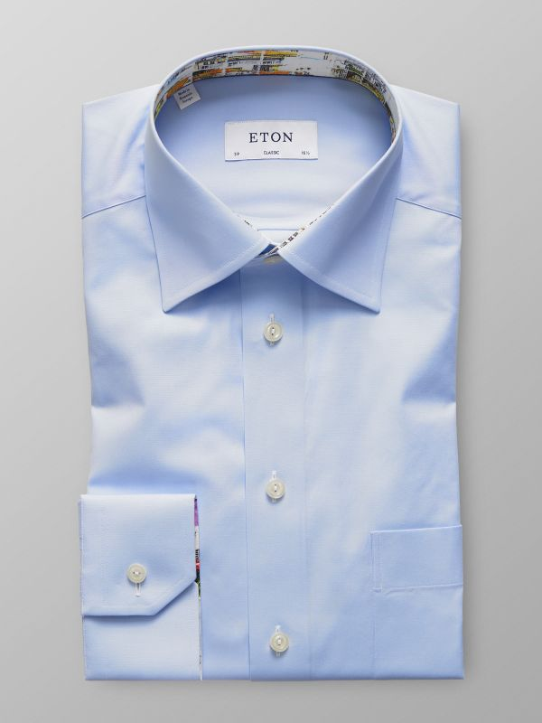 Sky Blue Shirt With Skyline of Lisbon Print