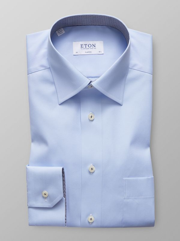 Sky Blue Contrast Detail Shirt