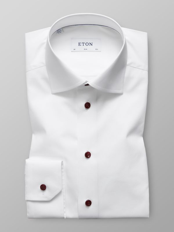 White Poplin Shirt with Modern Details