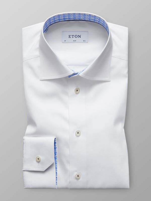 White Poplin Trim Details Shirt