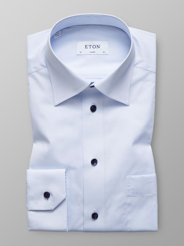 Sky Blue Shirt - Blue Buttons