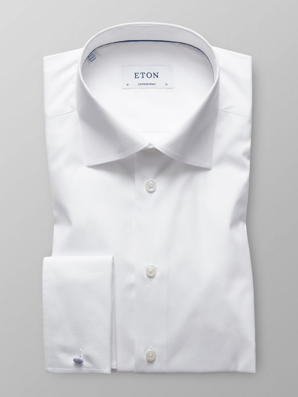 White Poplin Shirt French Cuffs