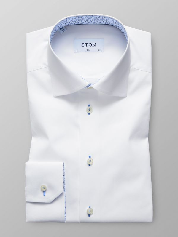 White Poplin Shirt With Trim Details