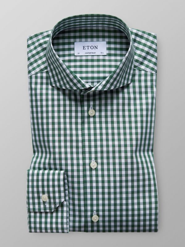 Green Gingham Check Shirt