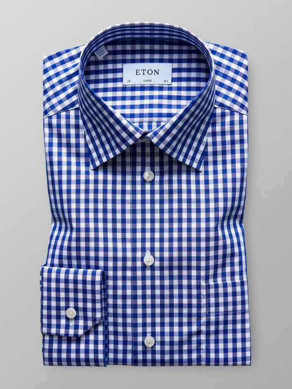 Blue Gingham Check Shirt