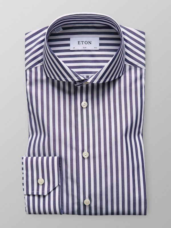 Bold Striped Poplin Shirt