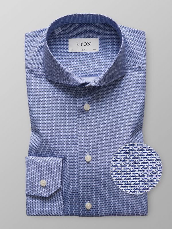 Racing Car Print Poplin Shirt