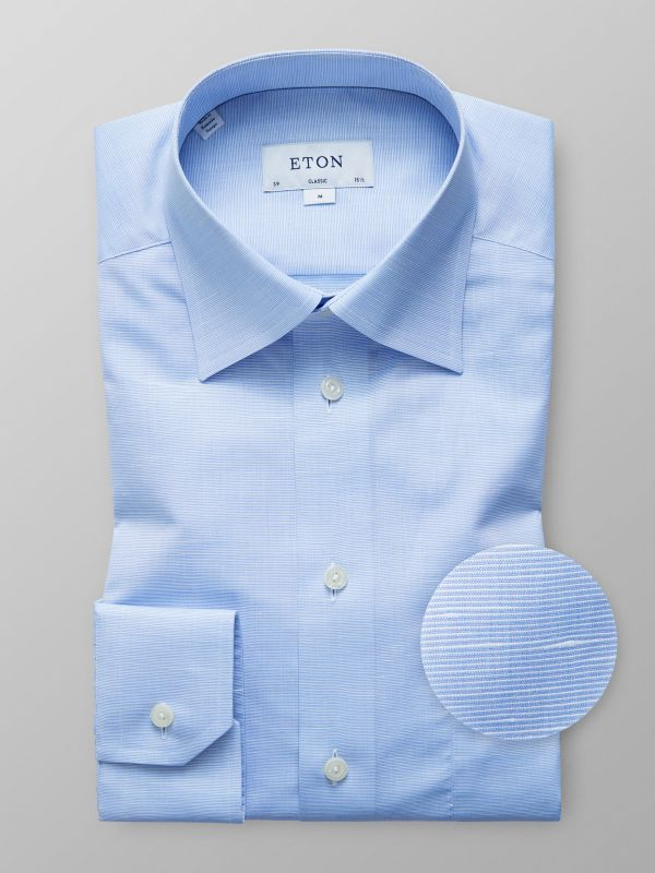 Blue Cotton & Linen Shirt