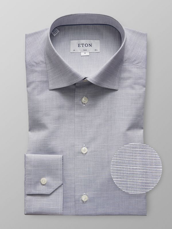 Grey Cotton & Linen Shirt