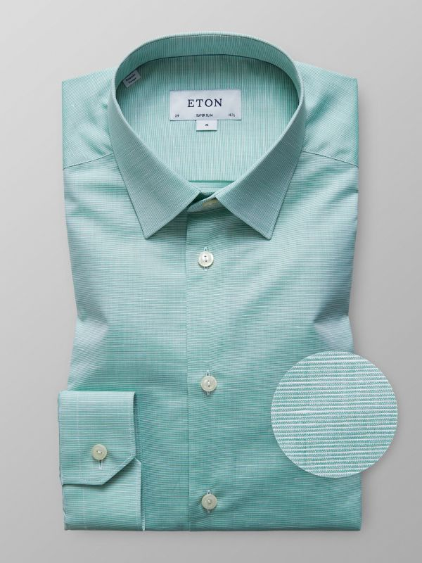 Green Cotton & Linen Shirt