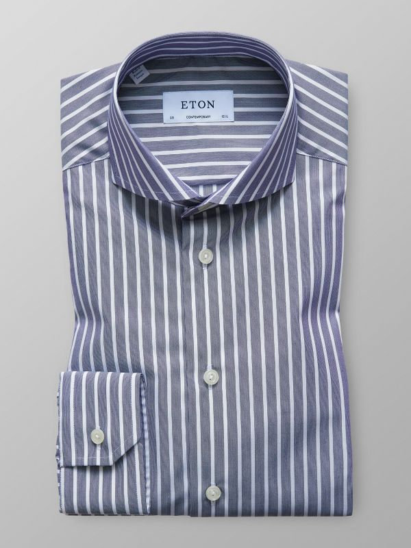 Blue Bold Striped Shirt