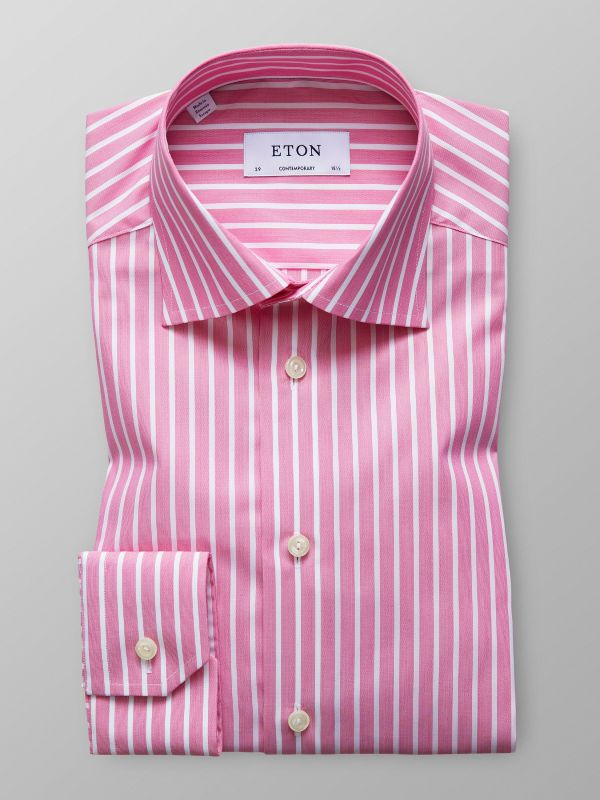 Pink Striped Shirt