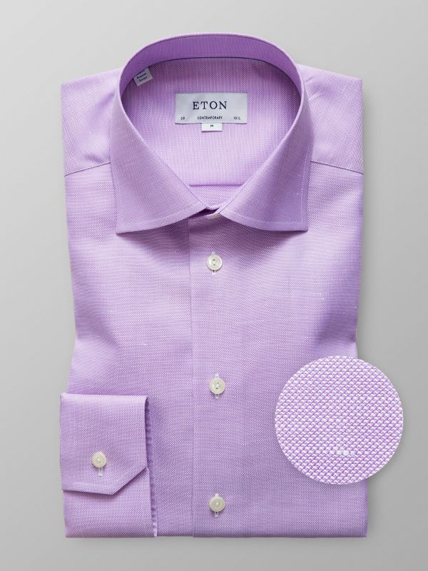 Purple Cotton & Linen Shirt