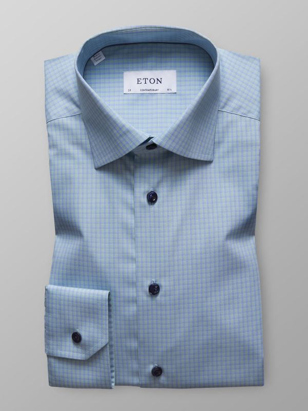 Green Check Poplin Shirt