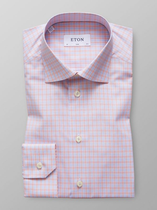 Pink & Blue Check Shirt