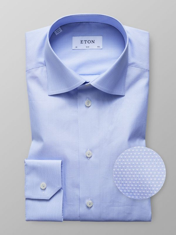 Light Blue Fine Dots Shirt