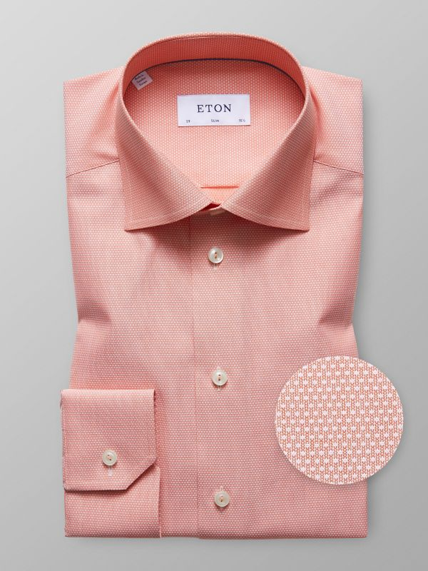 Orange Fine Dots Shirt