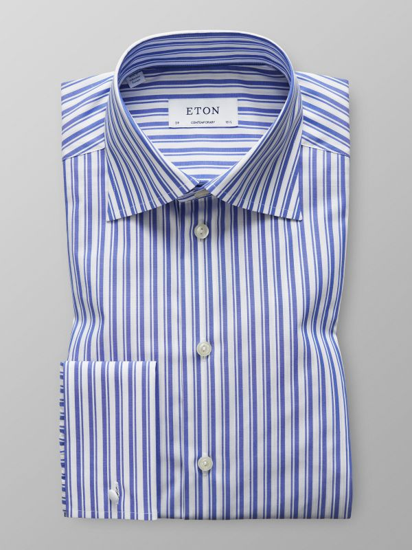 Dual Striped French Cuff Shirt