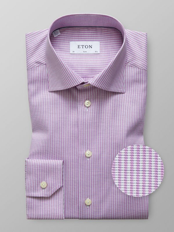Pink & White Striped Shirt