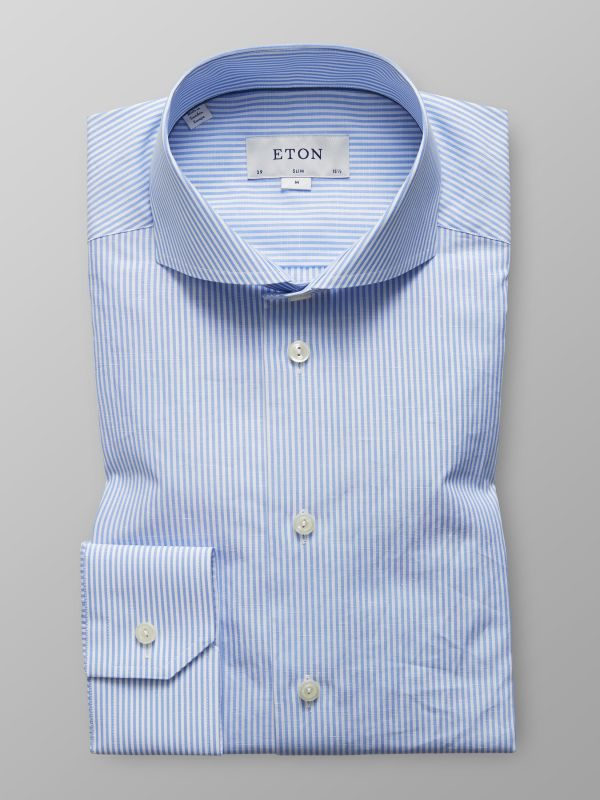 Sky Blue Cotton & Linen Shirt