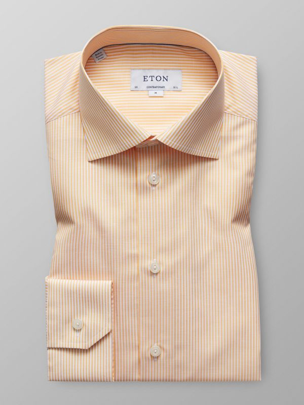 Orange Cotton & Linen Shirt