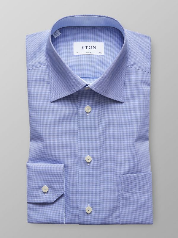 Light Blue Contrast Detail Shirt